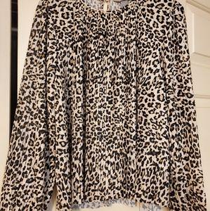 Leopard print blouse by H&M